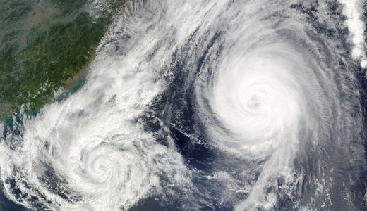 台風24号飛行機