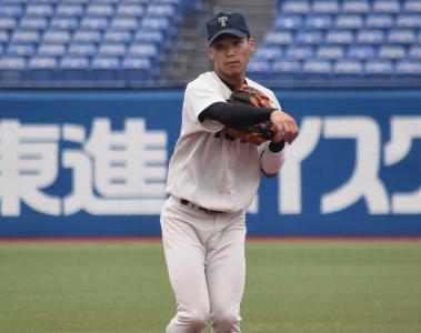 中川圭太さんの野球姿です。