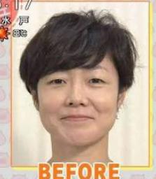 有働由美子アナのすっぴん画像です。